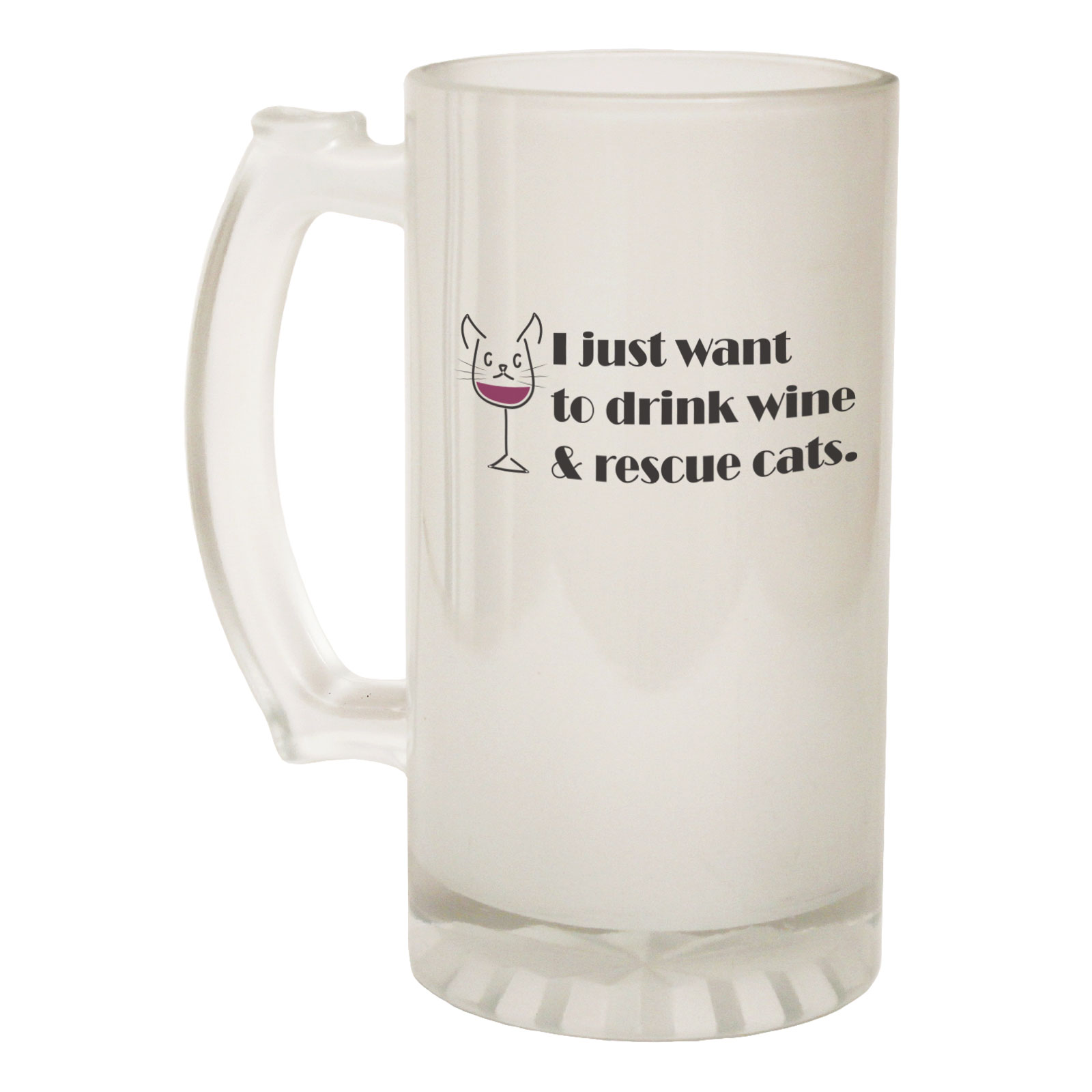 Methodical Beer Stein I Just Want To Dirnk Wine Cats Funny Novelty Birthday Pint Glass Other Bar Tools & Accessories