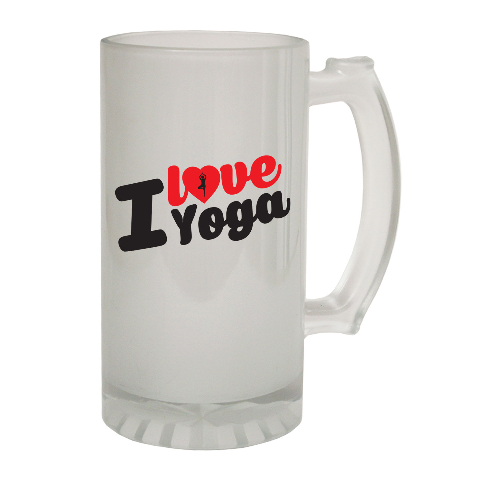 Beer Stein Funny Novelty Christmas Birthday Frosted Pint Glass I Love Yoga