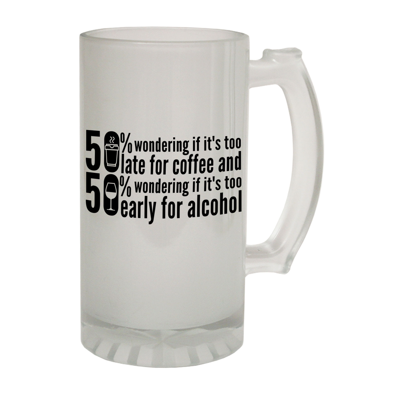 Objective Beer Stein Wondering Late Alcohol Funny Novelty Christmas Birthday Pint Glass Other Bar Tools & Accessories