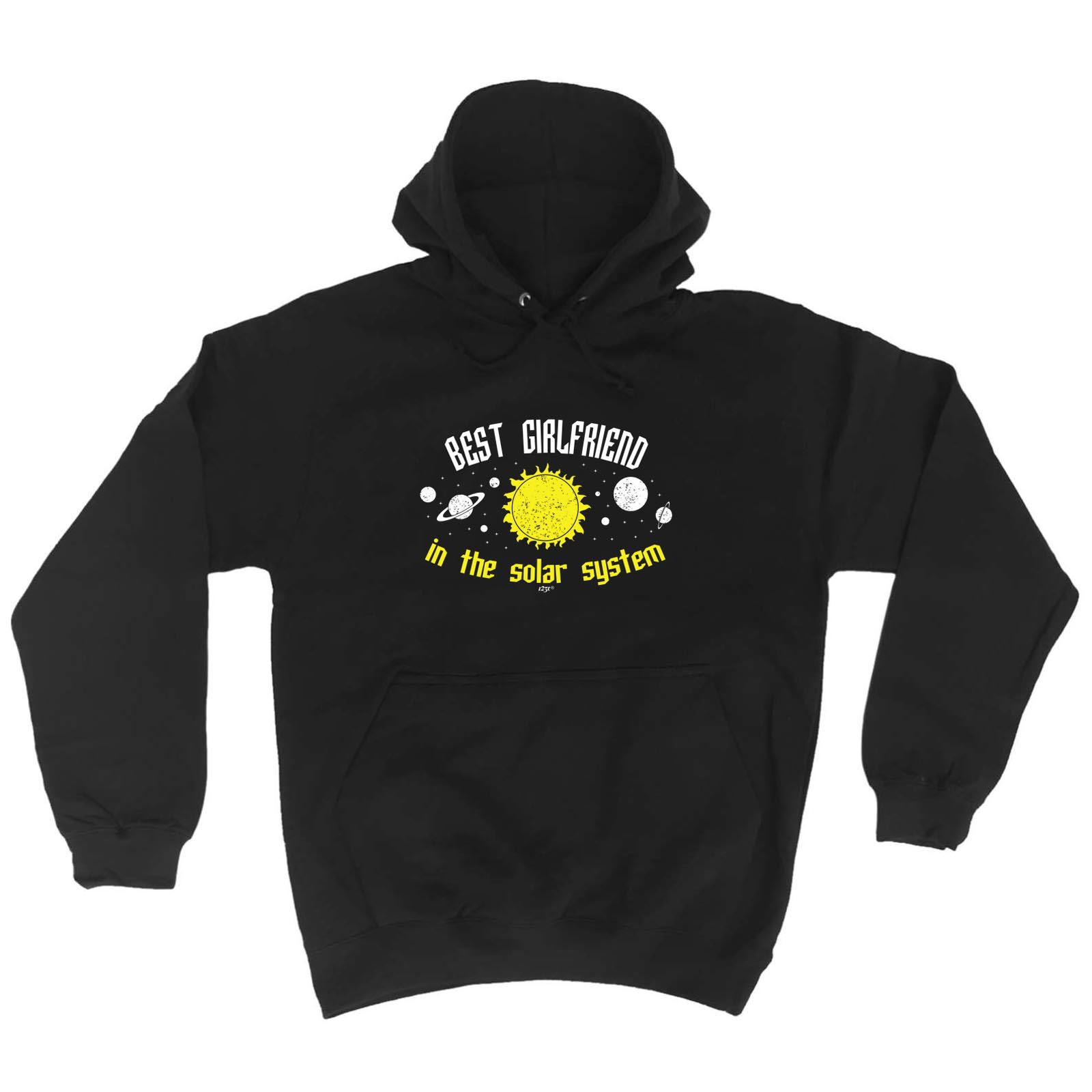 Best Girlfriend In The Solar System Funny Novelty Hoodie Hoody hooded Top