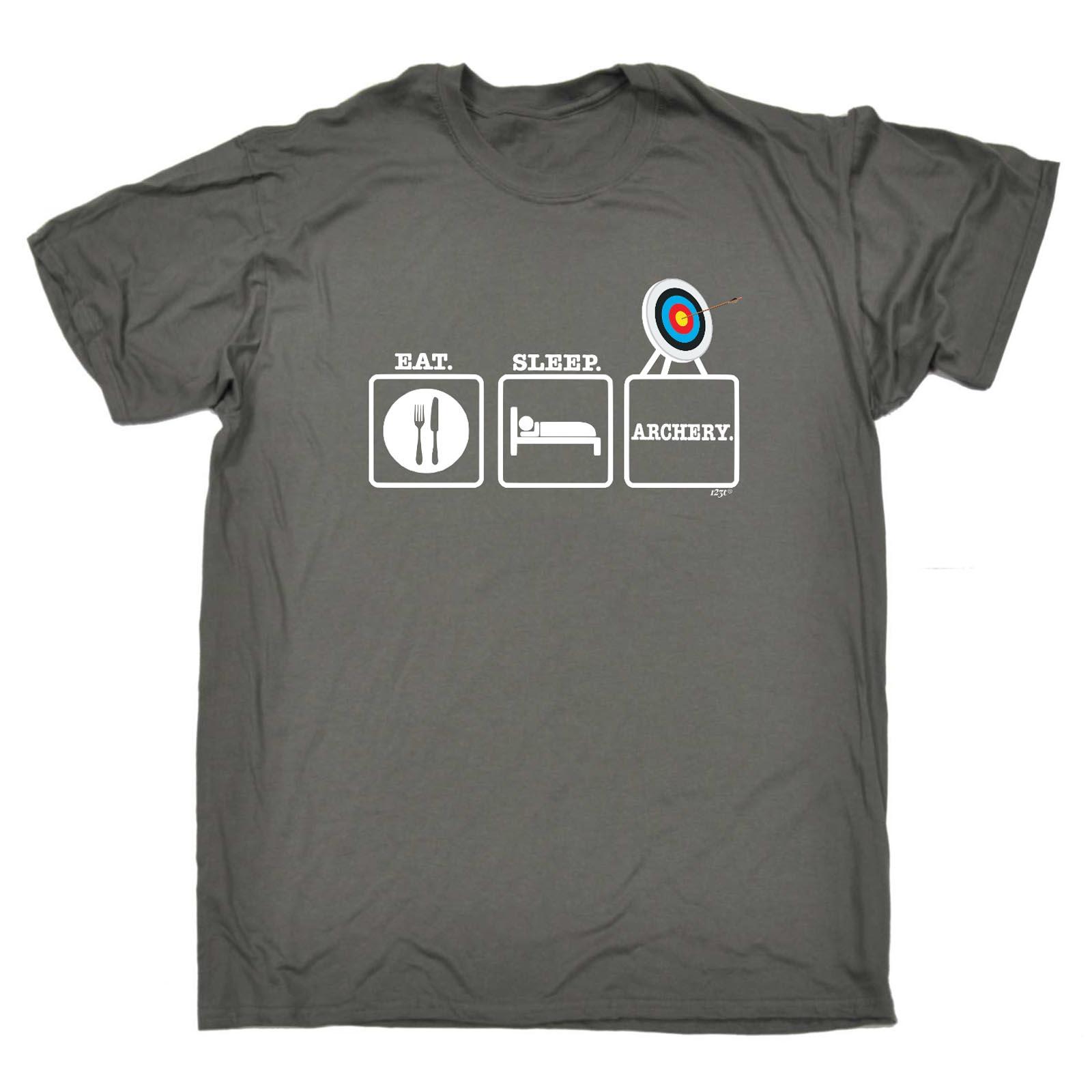 Funny-Novelty-T-Shirt-Mens-tee-TShirt-Eat-Sleep-Archery
