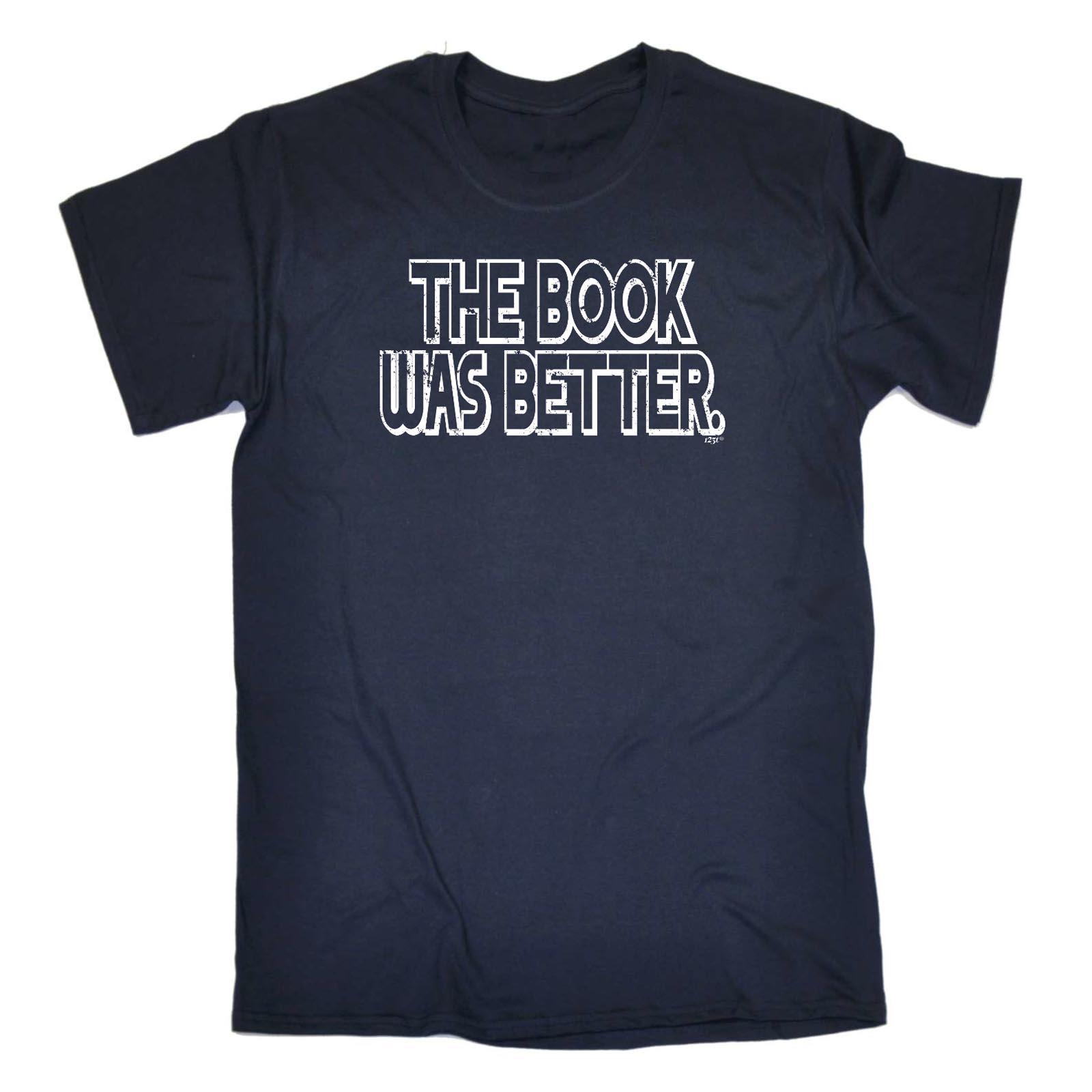 Divertenti Novità T-shirt Da Uomo T-Shirt Tee-il libro era migliore