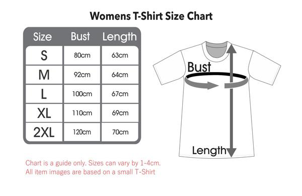 Men's T Shirt Size Chart